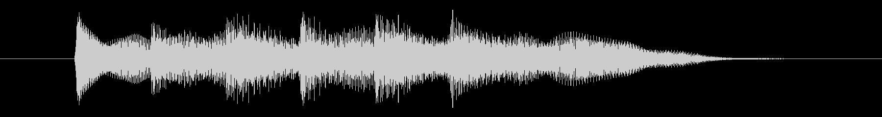 正解の音,ピンポンピンポン③の未再生の波形