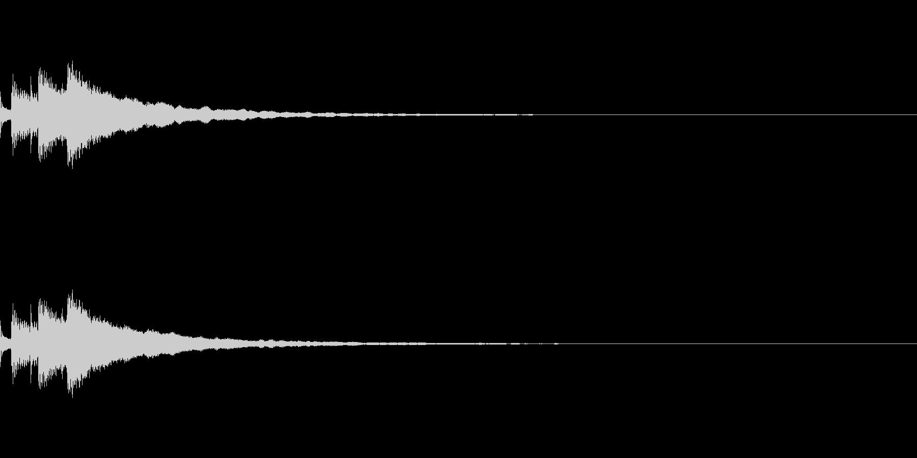 キラン(通知・決定音)の未再生の波形