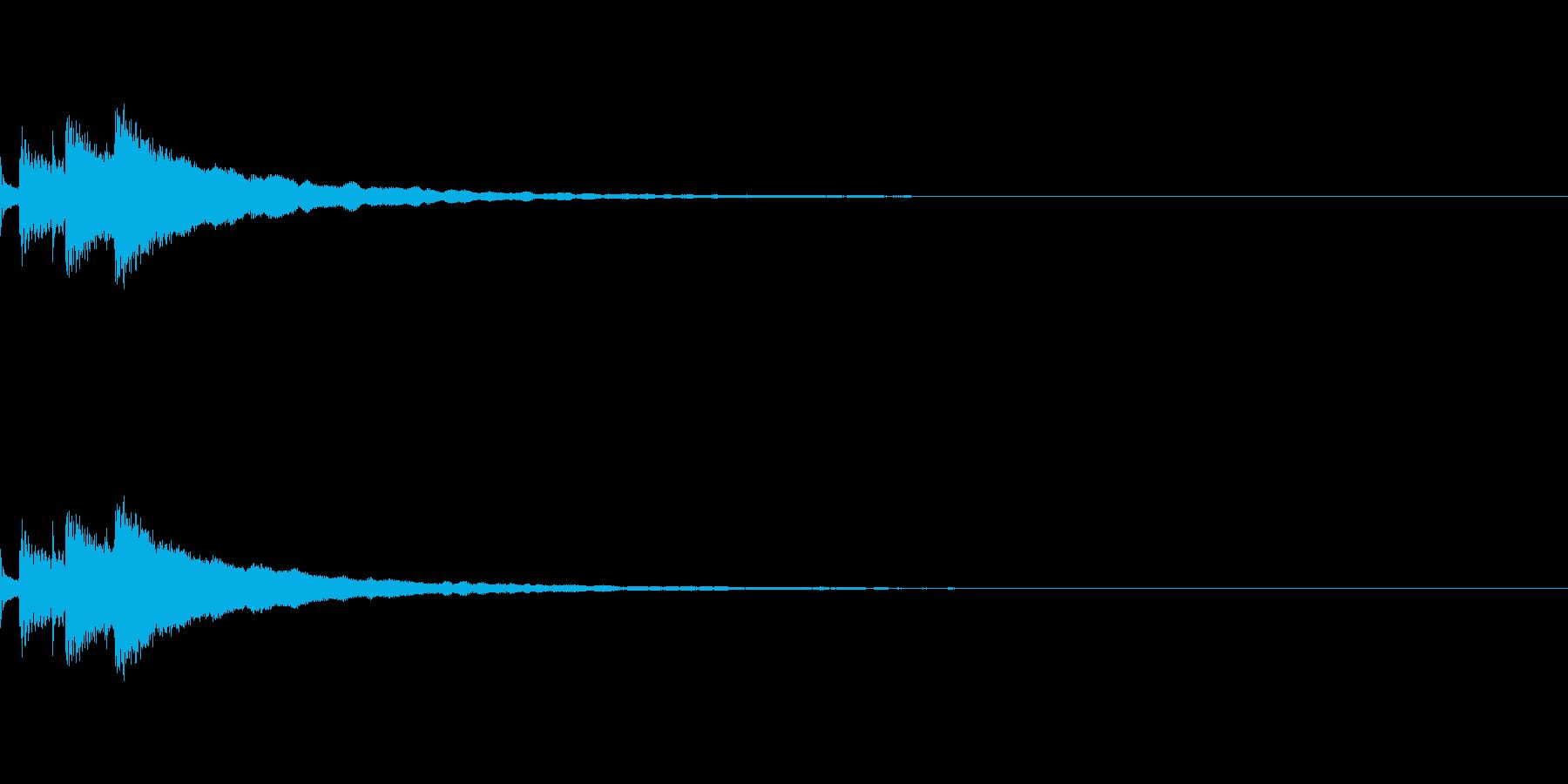 キラン(通知・決定音)の再生済みの波形