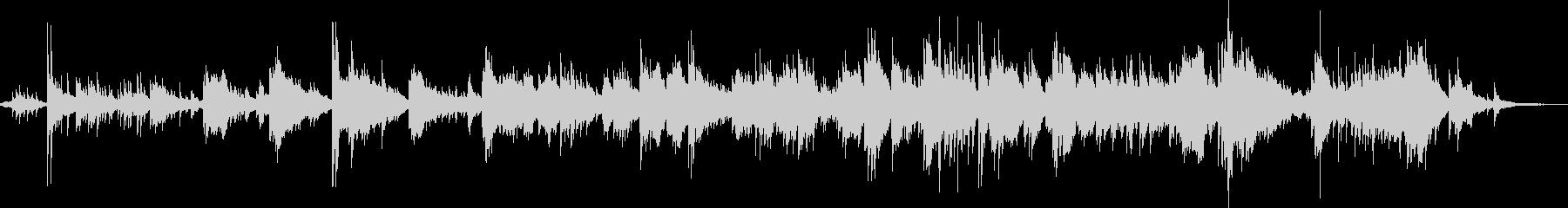 柔らかいタッチのピアノソロの未再生の波形