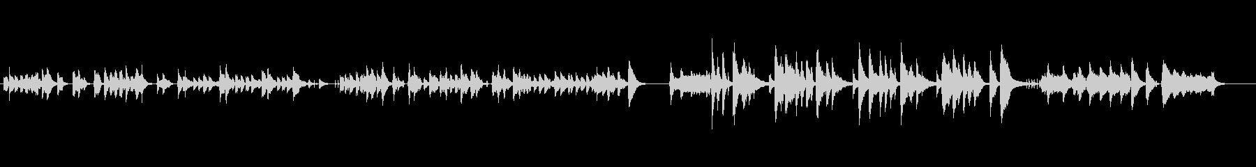 レトロフューチャー感のあるボサノバ楽曲の未再生の波形