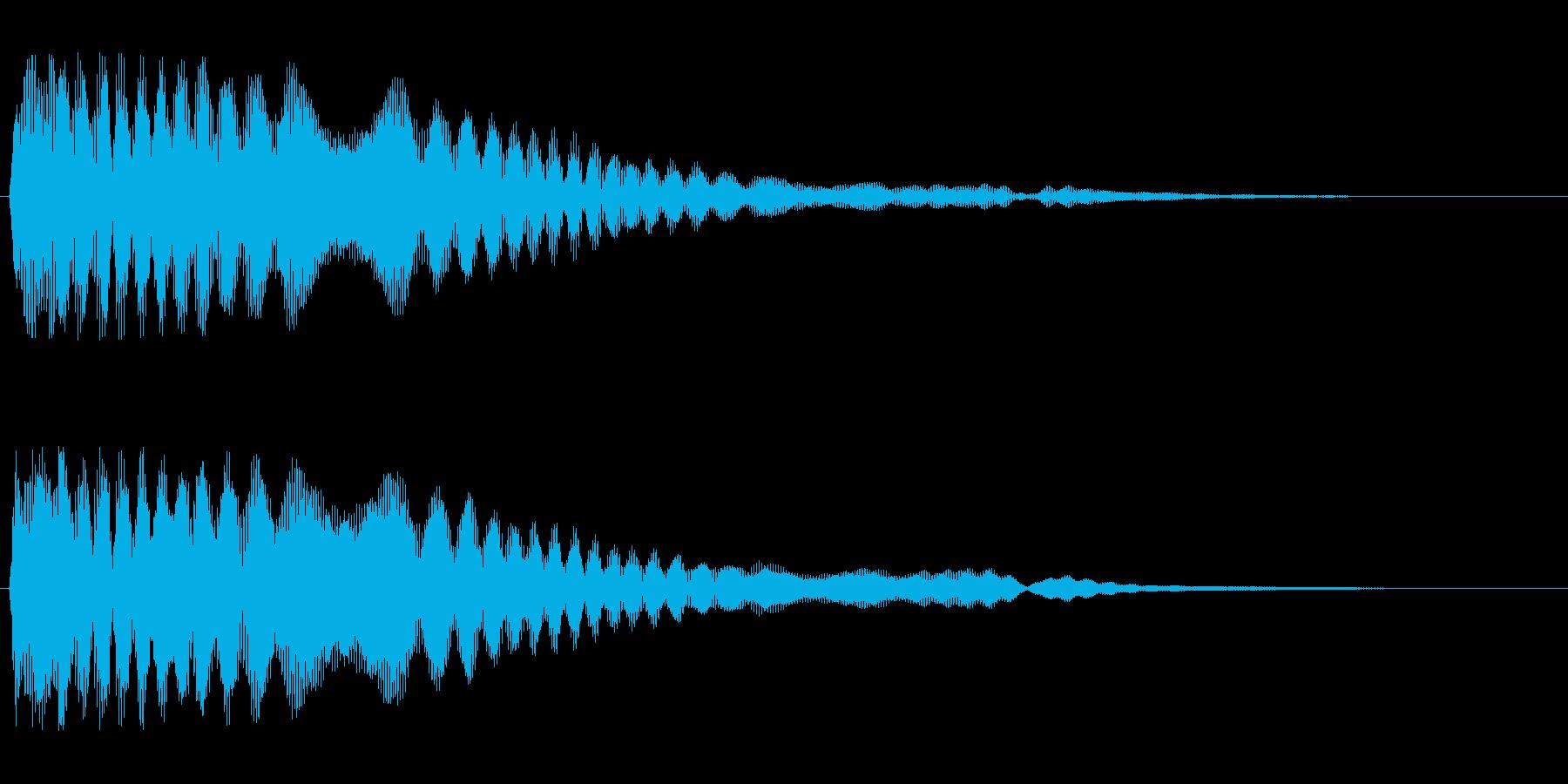 キーン(強く光る音)の再生済みの波形