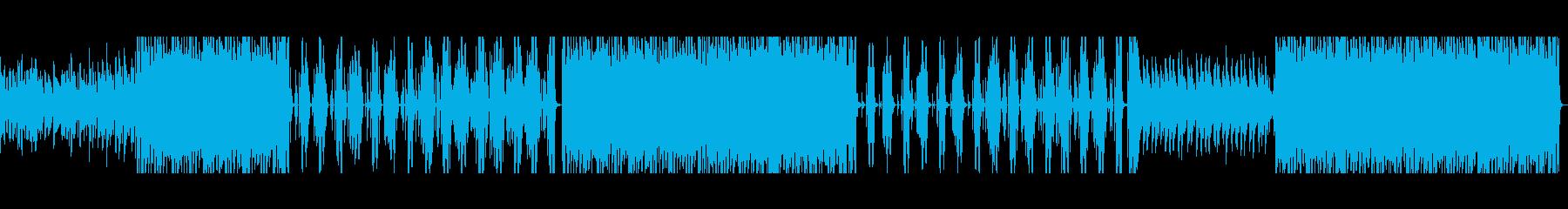 Lo-fiシンセと心地よいビートの曲の再生済みの波形