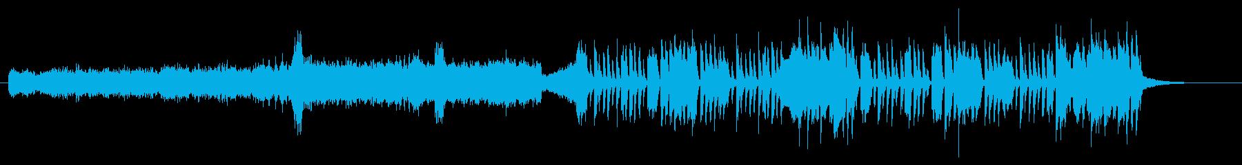 テクニカル要素の強い変則ビートの再生済みの波形