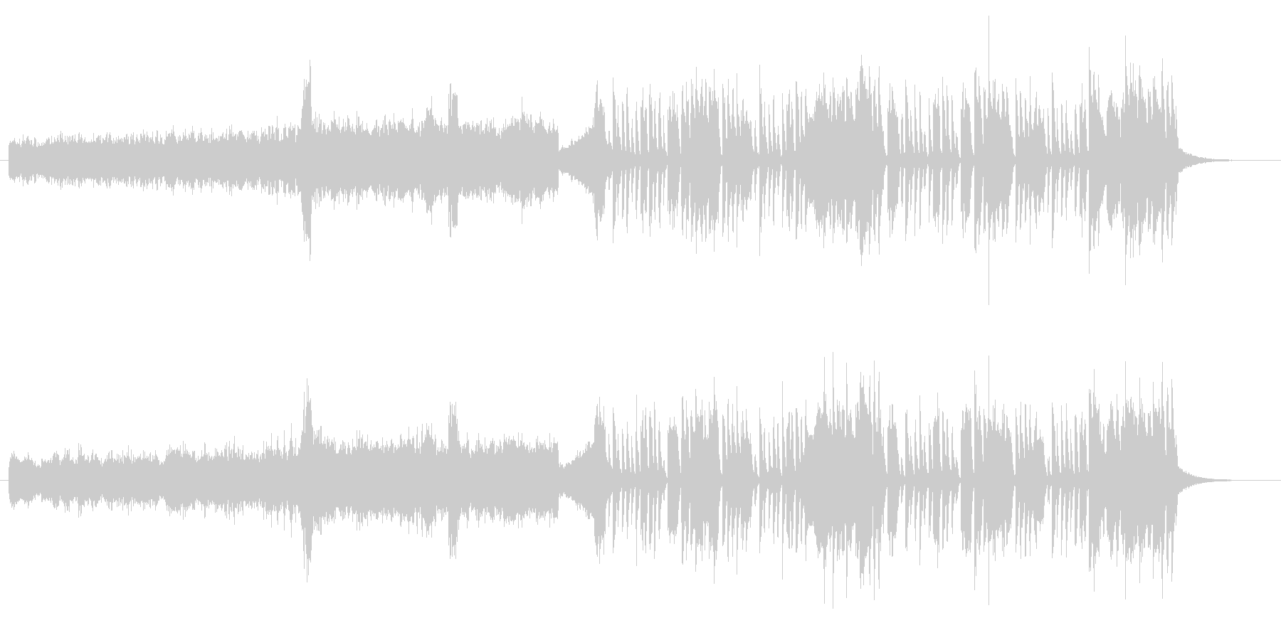 テクニカル要素の強い変則ビートの未再生の波形