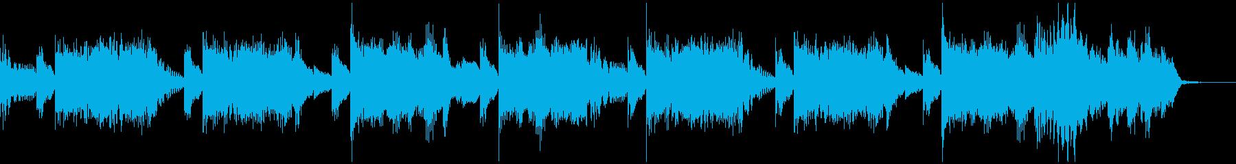 15秒 軽快なハウスミュージックの再生済みの波形