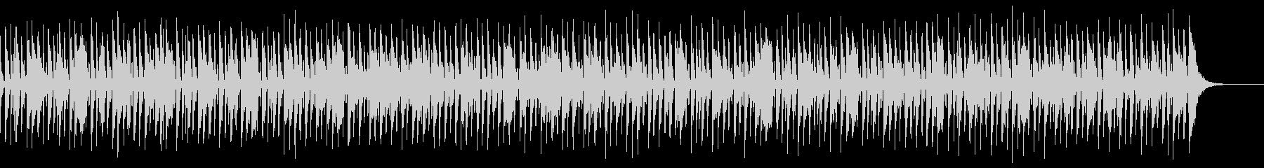 アコースティックレゲエ風BGMの未再生の波形