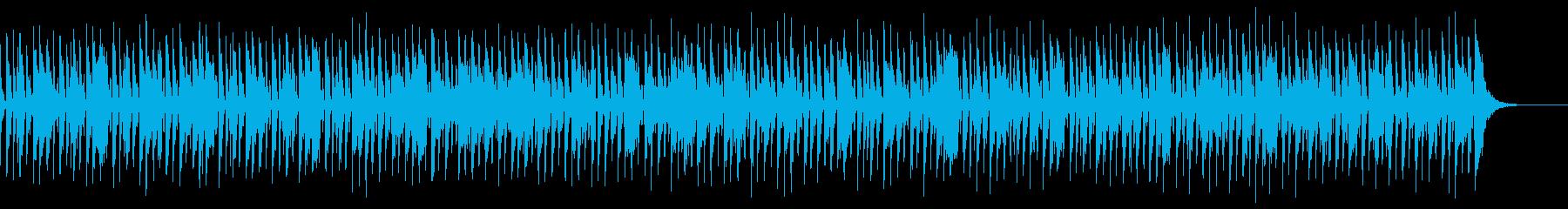 アコースティックレゲエ風BGMの再生済みの波形