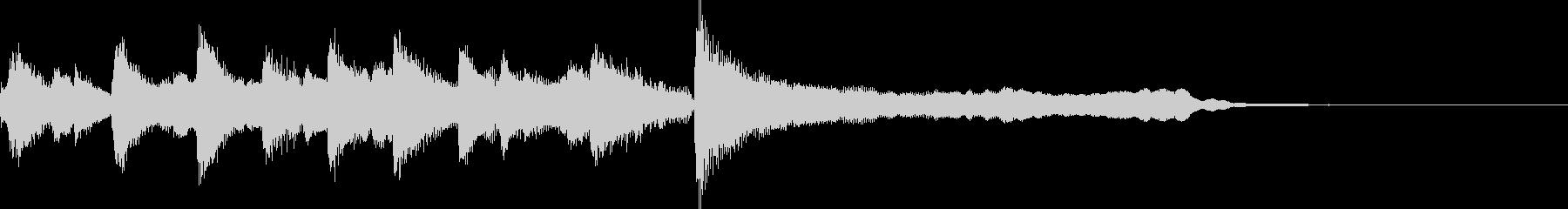 優しいオケ CM ジングル サウンドロゴの未再生の波形