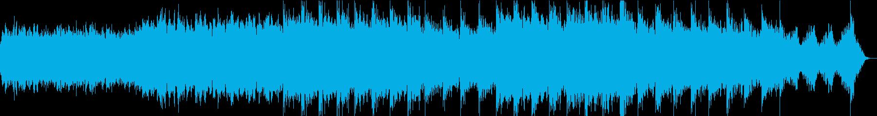神秘的な宇宙をイメージしたBGMの再生済みの波形