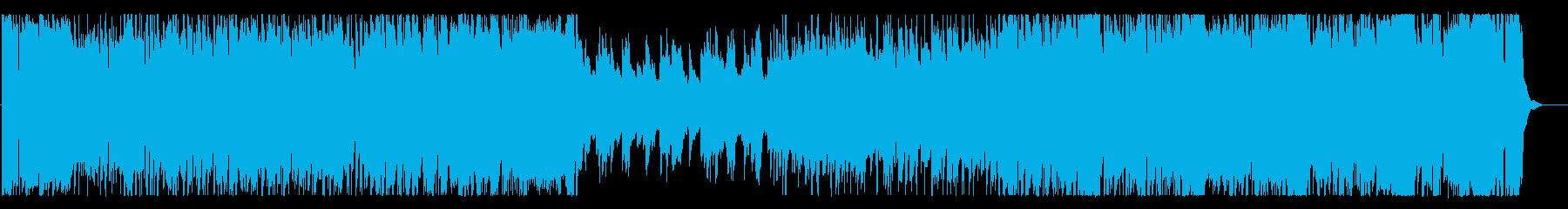 16ビートの3拍子フュージョンの再生済みの波形