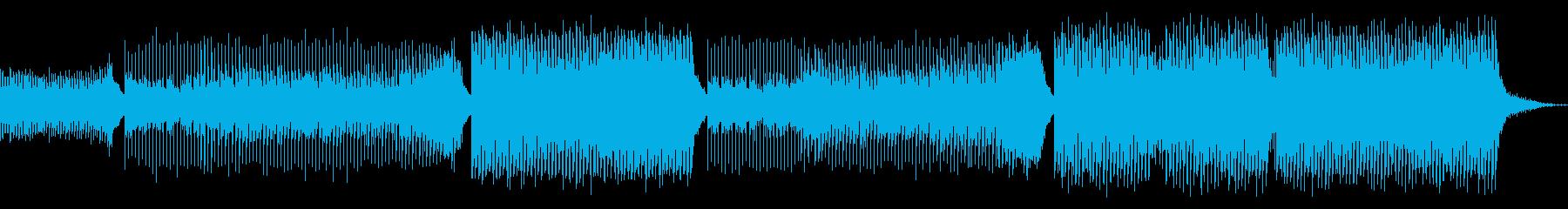 疾走感があるエモーショナルなEDMの再生済みの波形