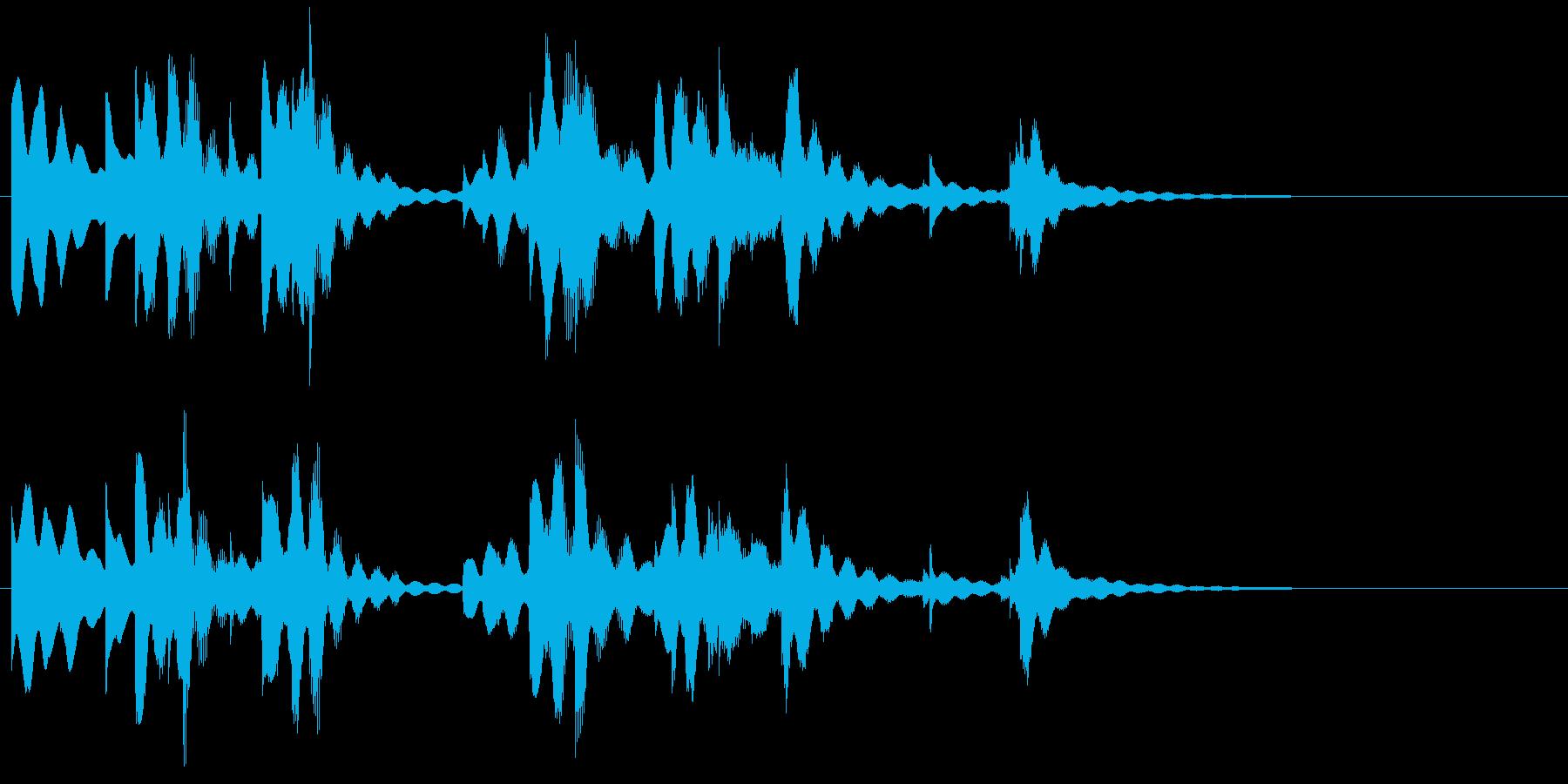 やさしい温もりあるピアノメロディーの再生済みの波形