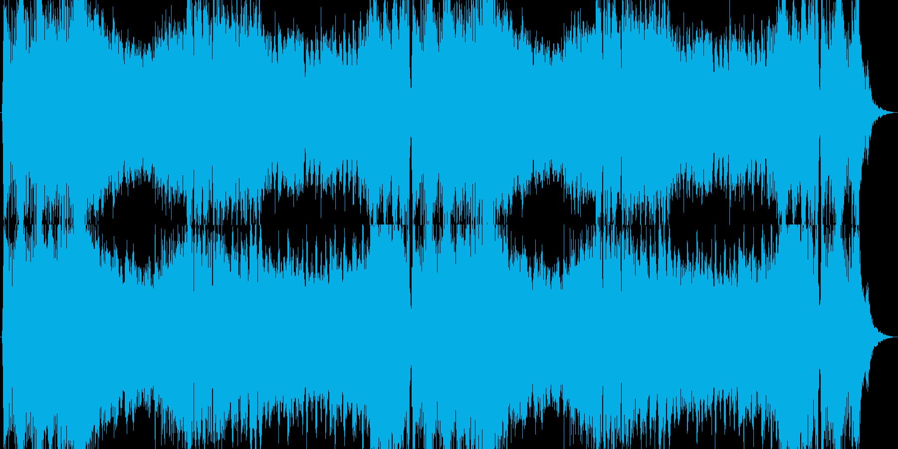 王宮を表現したオーケストラ調の明るい楽曲の再生済みの波形