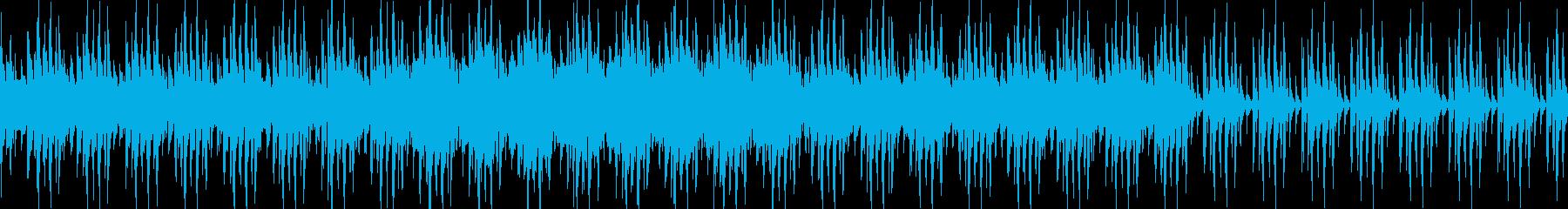 ループ仕様のメインタイトル用楽曲の再生済みの波形
