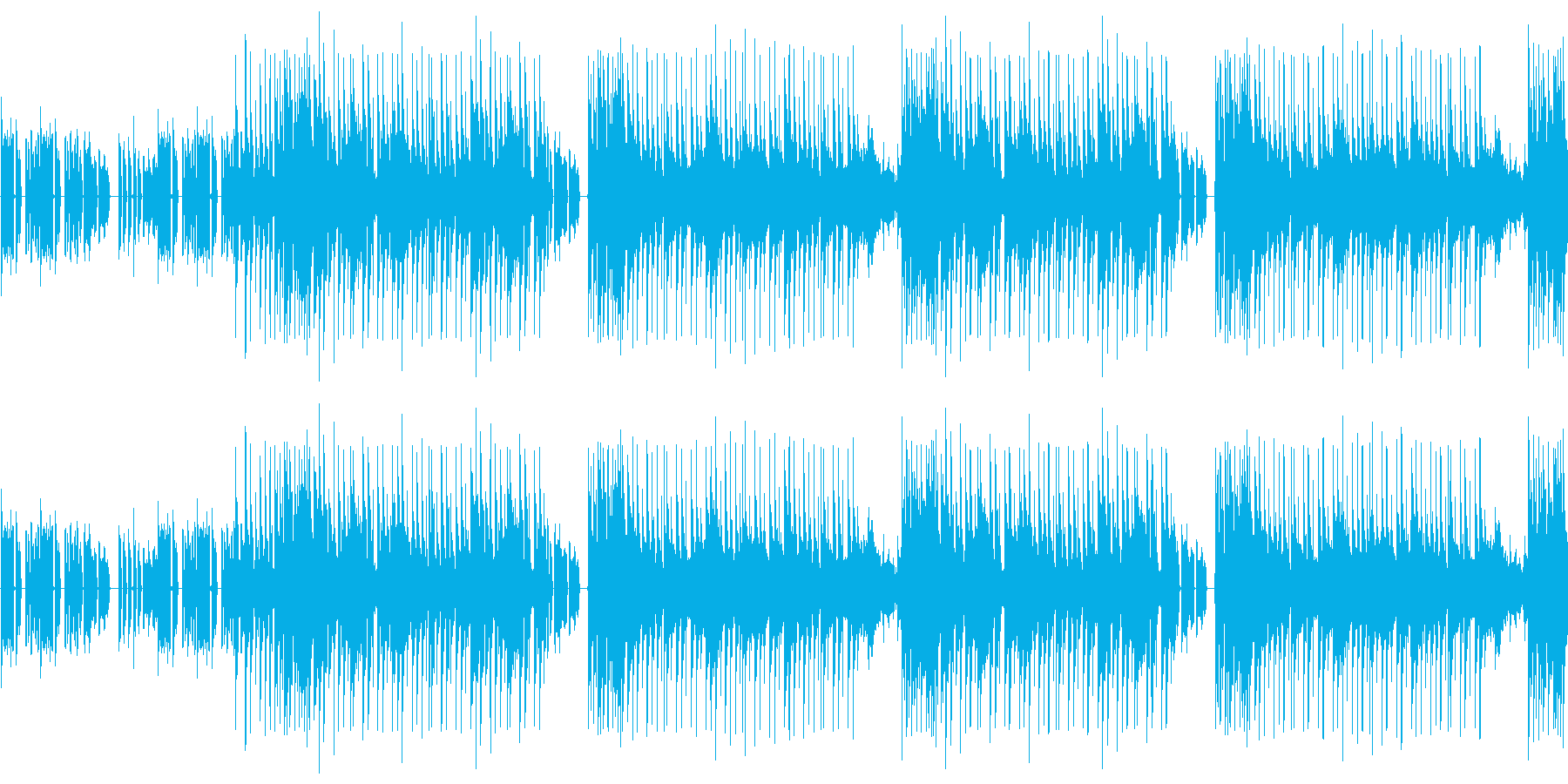 【コミカルな雰囲気のポップス】の再生済みの波形