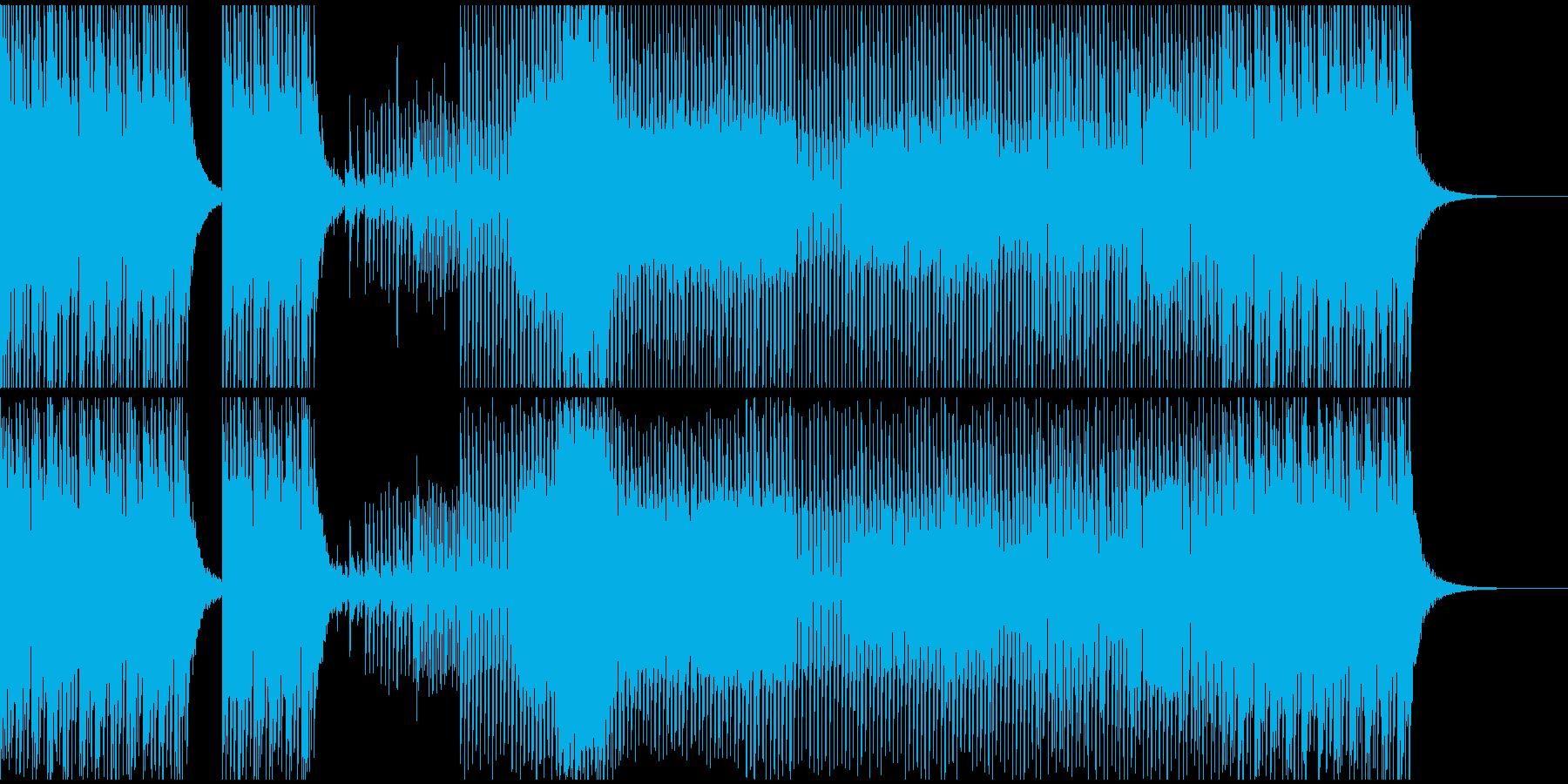 ムーディ、ラグジュアリな感じのテクノの再生済みの波形