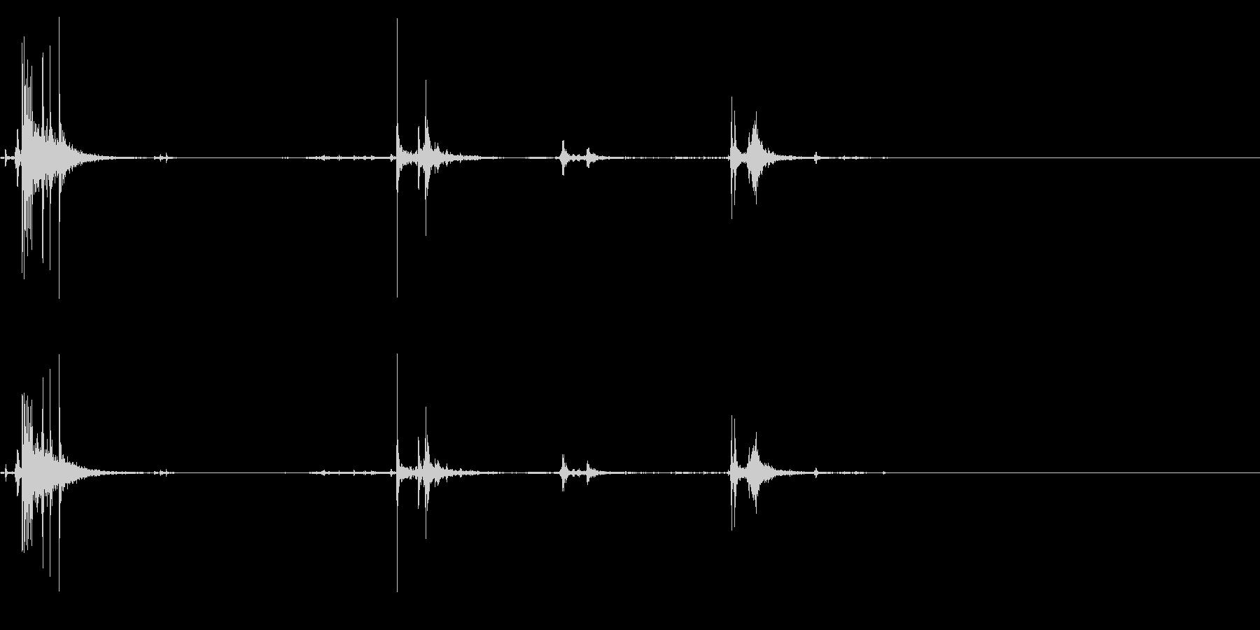 【生録音】パッケージ 開封音 10の未再生の波形