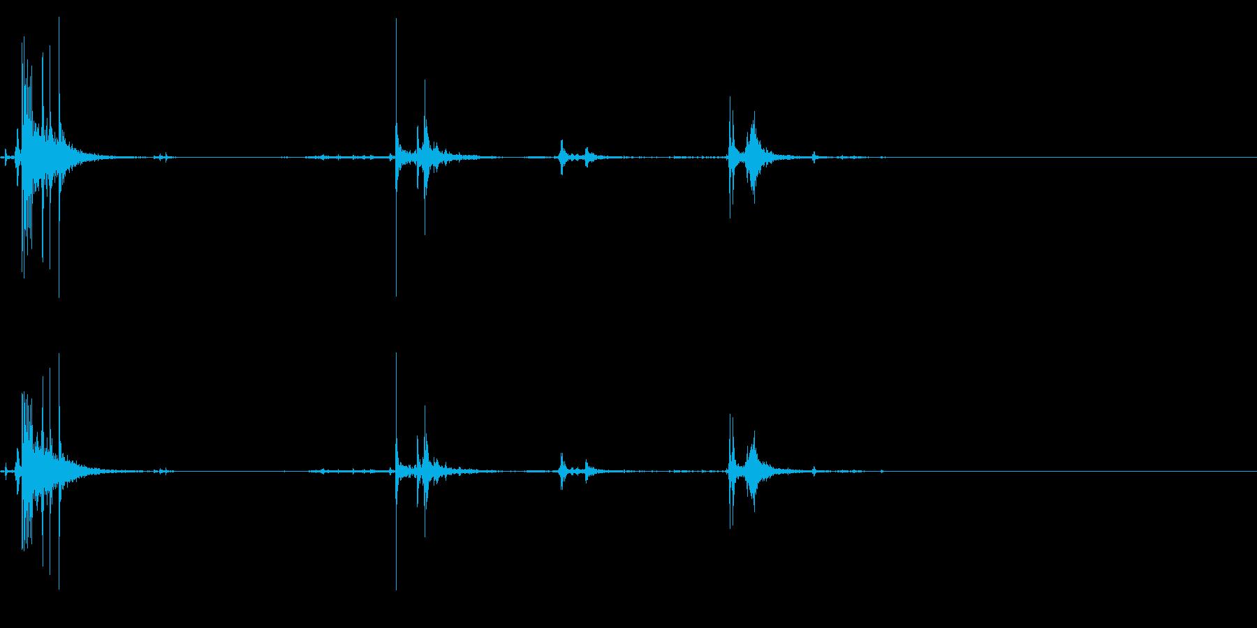 【生録音】パッケージ 開封音 10の再生済みの波形
