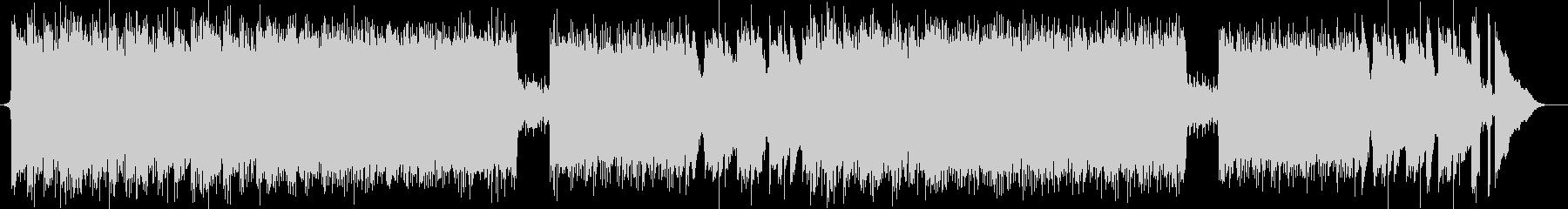 軽快なピアノミュージックの未再生の波形