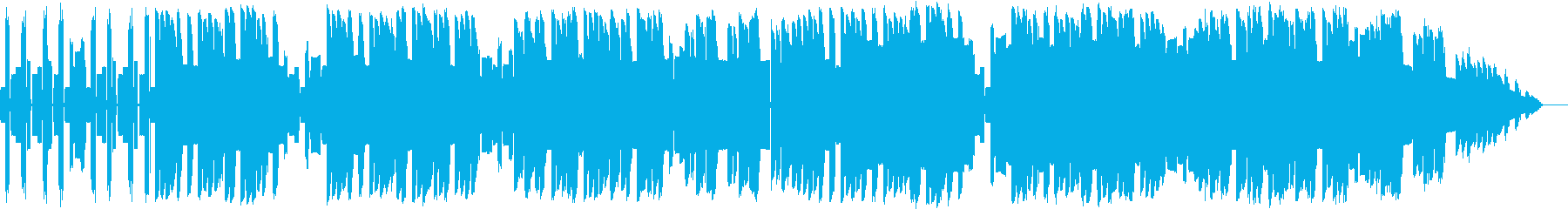 初期のファミコン風な明るめのループBGMの再生済みの波形