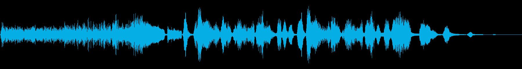 猫と犬の樹皮とヒスの再生済みの波形
