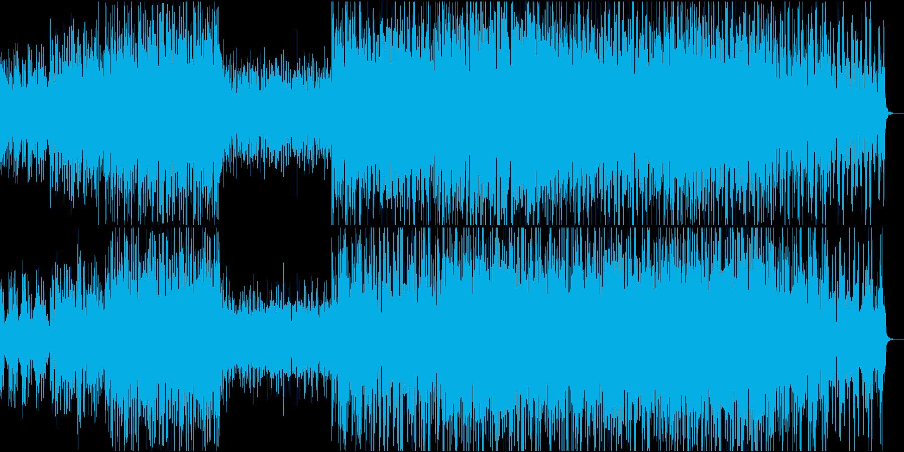 ピアノ主体のテクノポップの再生済みの波形