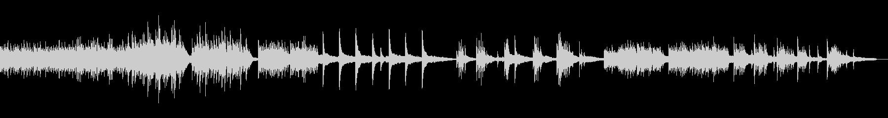 優しい音色のピアノ曲の未再生の波形