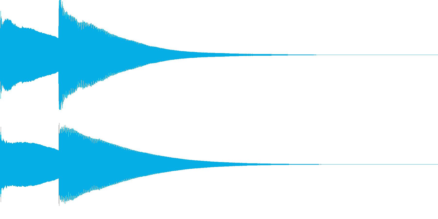 家のチャイム音 【ピンポーン!】の再生済みの波形