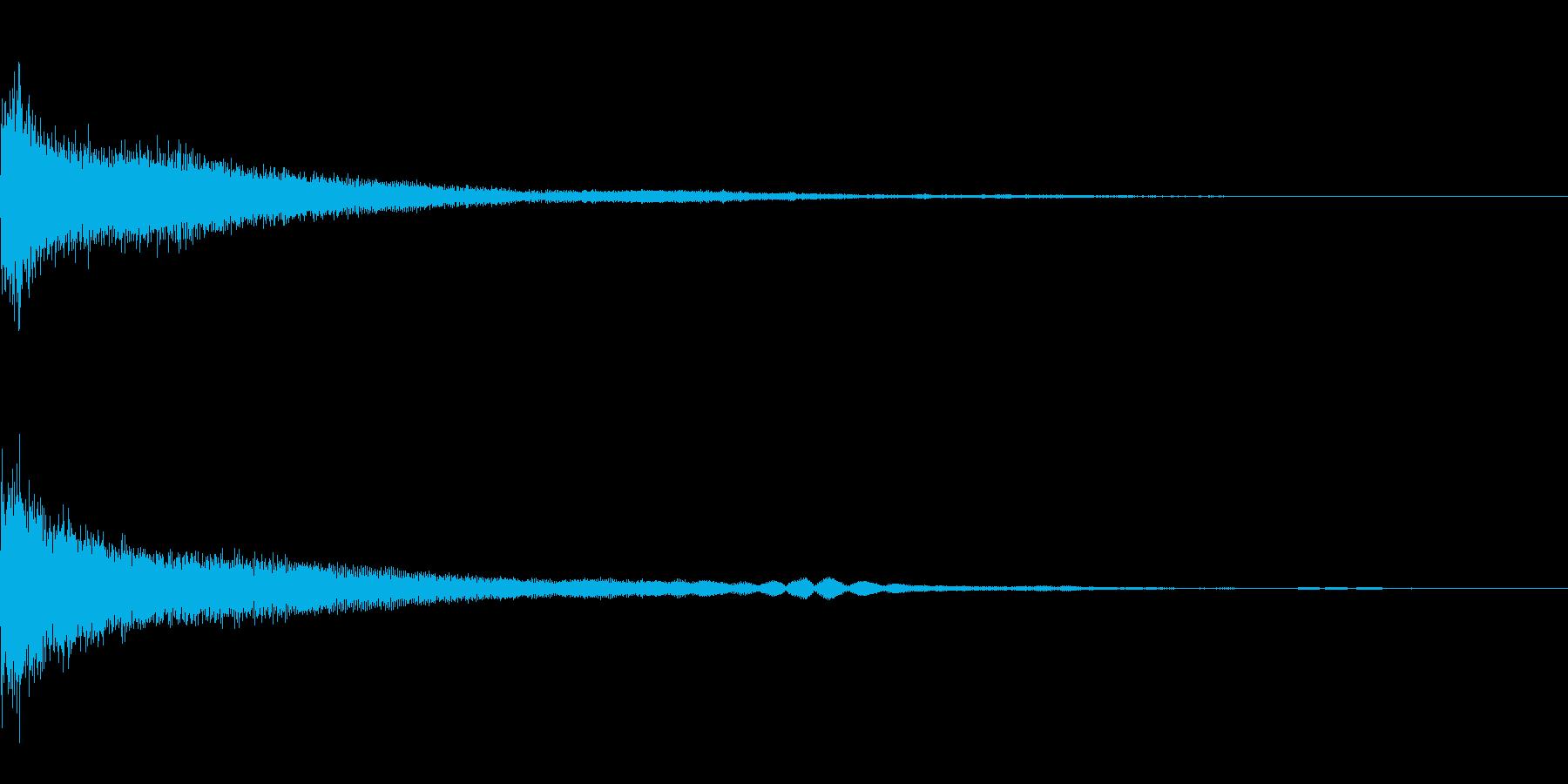 カジノ ペイカウント獲得音またはポイントの再生済みの波形