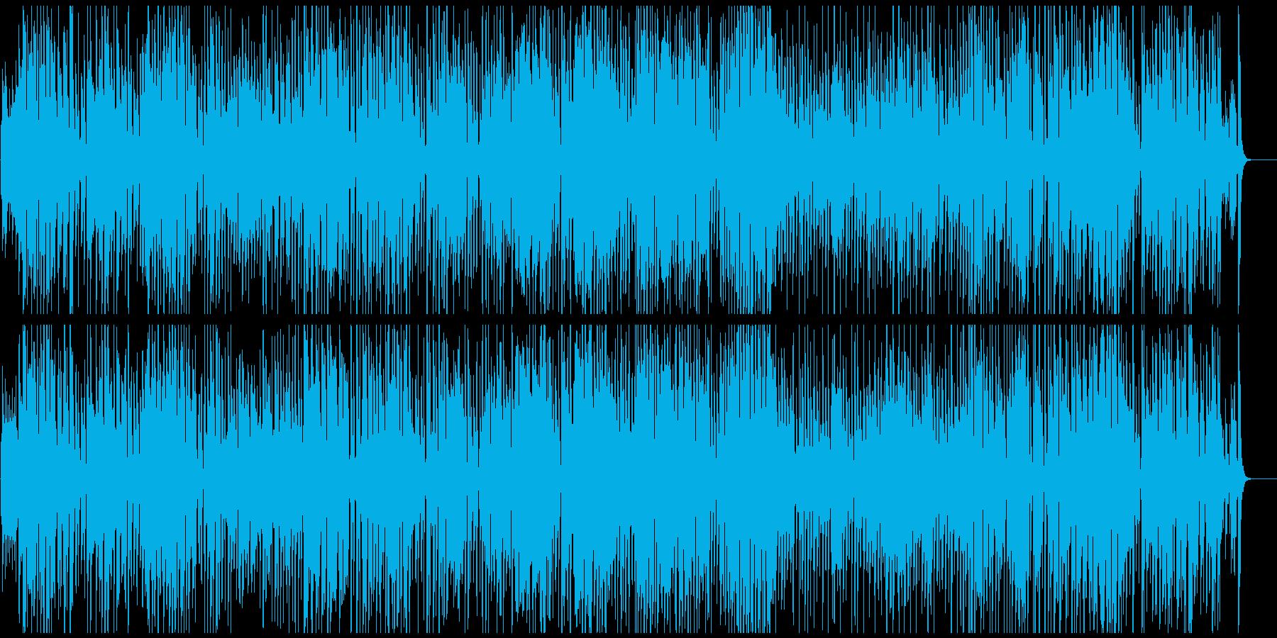 軽快でほんわか嬉しい気分のジプシージャズの再生済みの波形