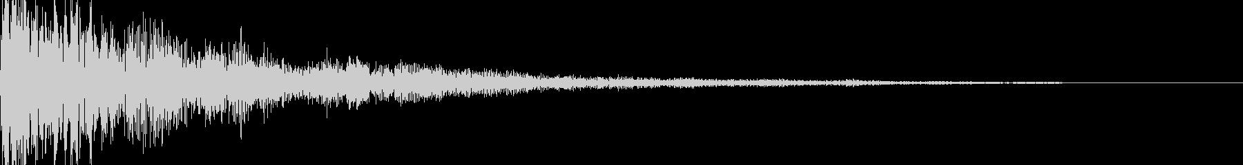 ハリウッド系サウンドロゴ ピアノ ピーンの未再生の波形