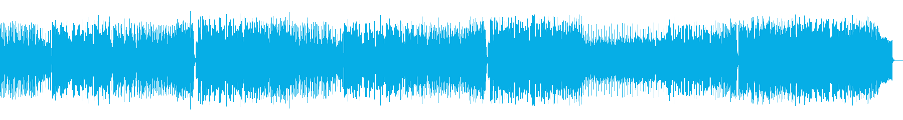 冒険系アニメのオープニングや挿入歌風の再生済みの波形