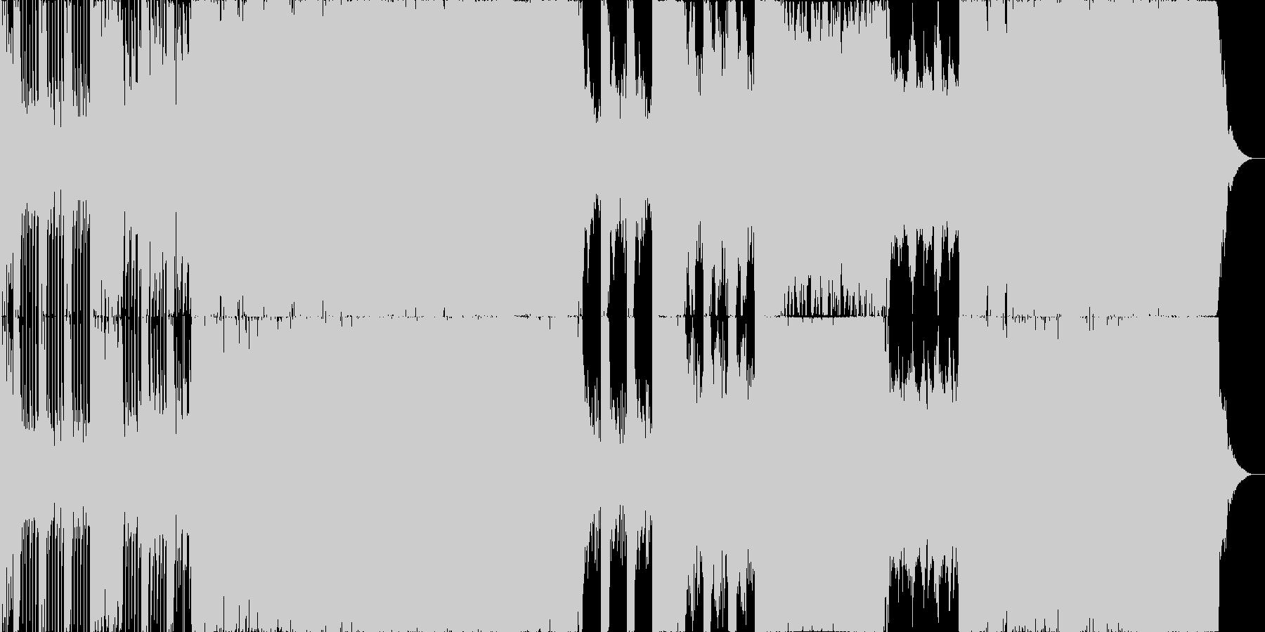 三味線ロックバンドの未再生の波形