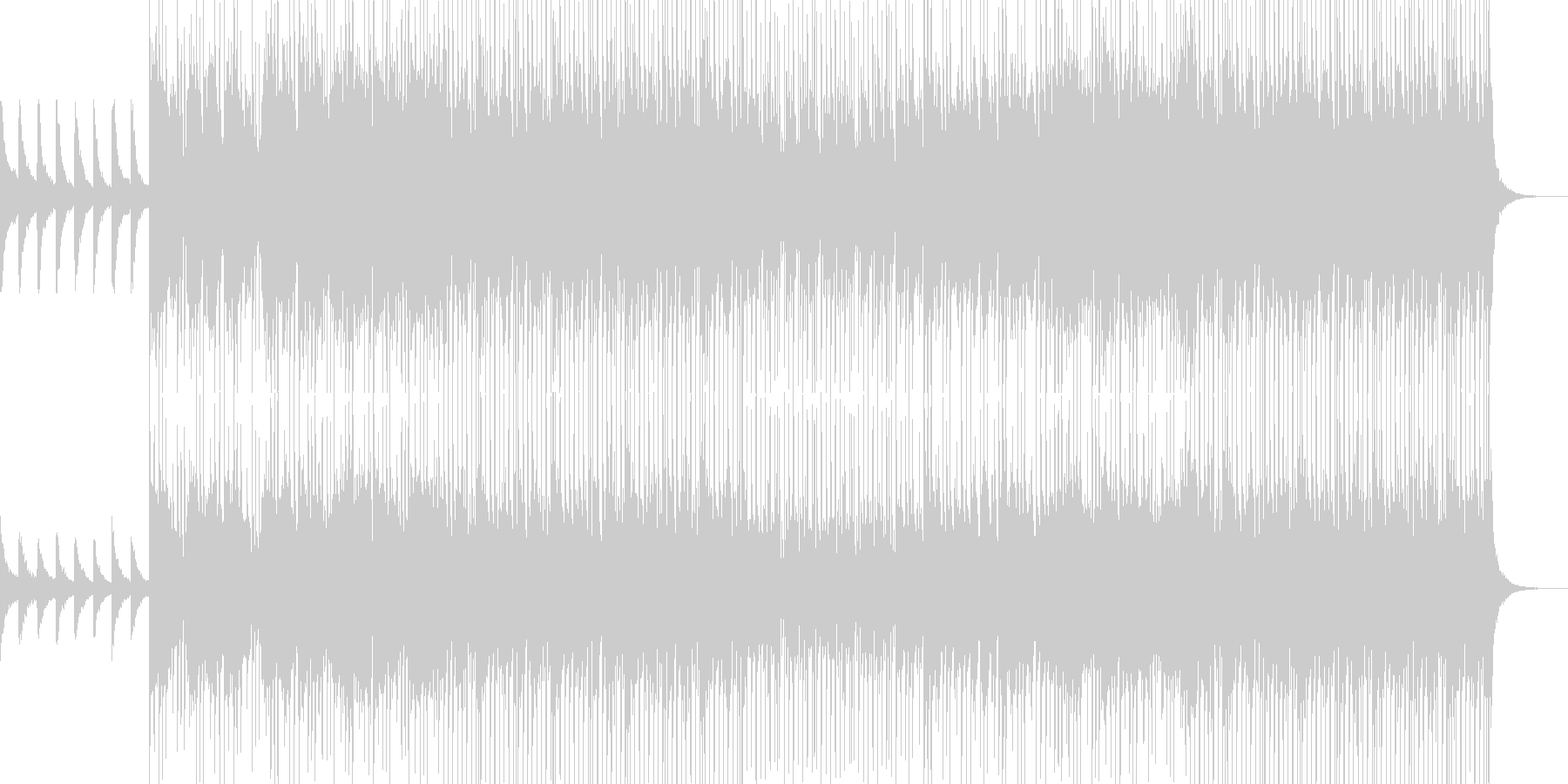 House saxの未再生の波形