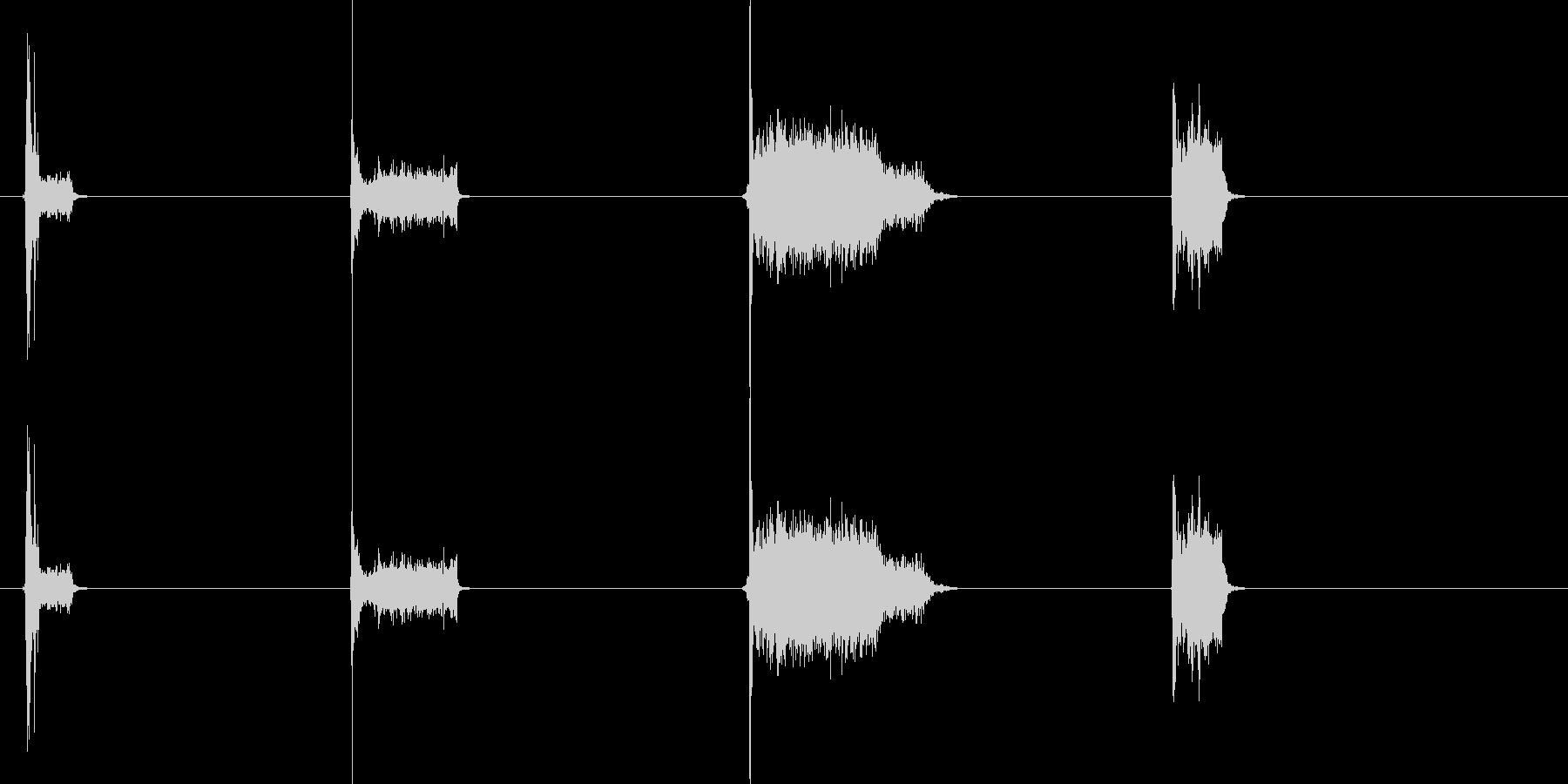 電子ゲームの未再生の波形