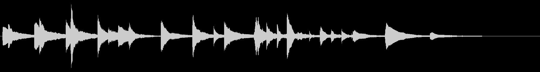 アンビエント、ヒーリング系ピアノジングルの未再生の波形