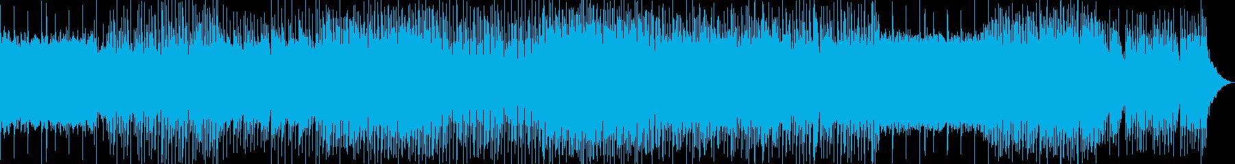 怪しげなコード進行とポップなピアノの曲の再生済みの波形