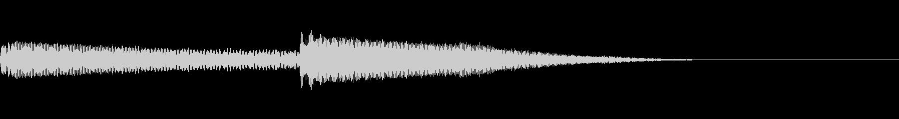 ゆったり流れるようなシンセ曲の未再生の波形