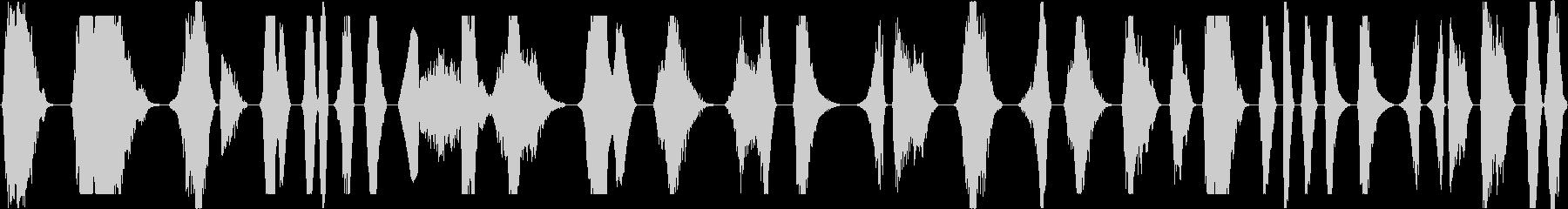 大きなピッチの金属桁スライド、低ス...の未再生の波形