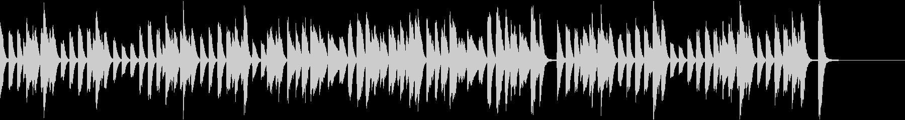 軽快で可愛らしい映像用ピアノソロの未再生の波形