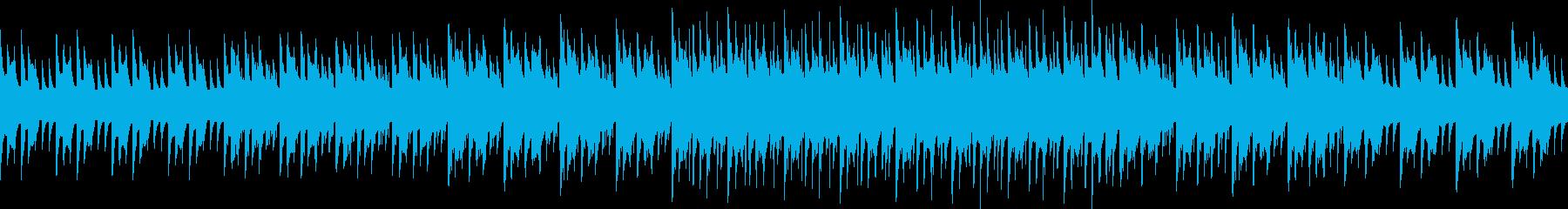 感動的、ピコピコしたファミコンぽいBGMの再生済みの波形