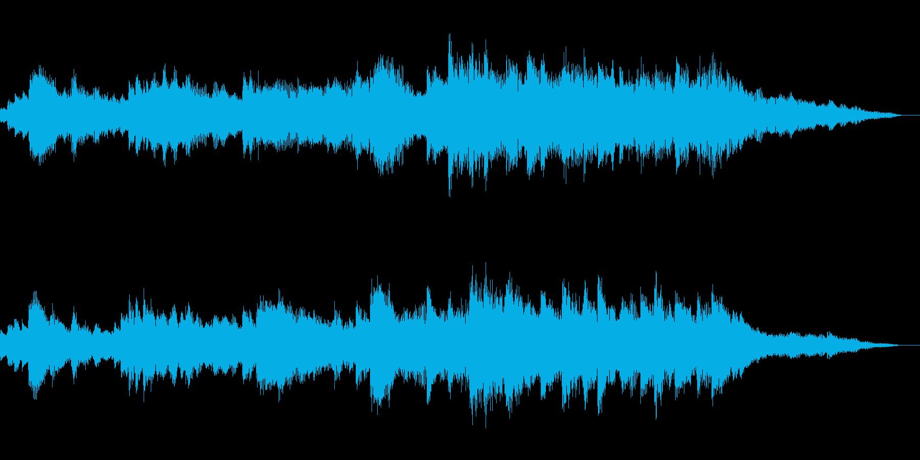 ジングル|爽やかな朝の雰囲気-管弦楽器の再生済みの波形