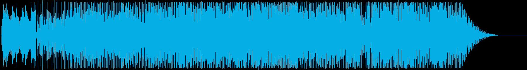 サンバっぽい雰囲気のインストの再生済みの波形