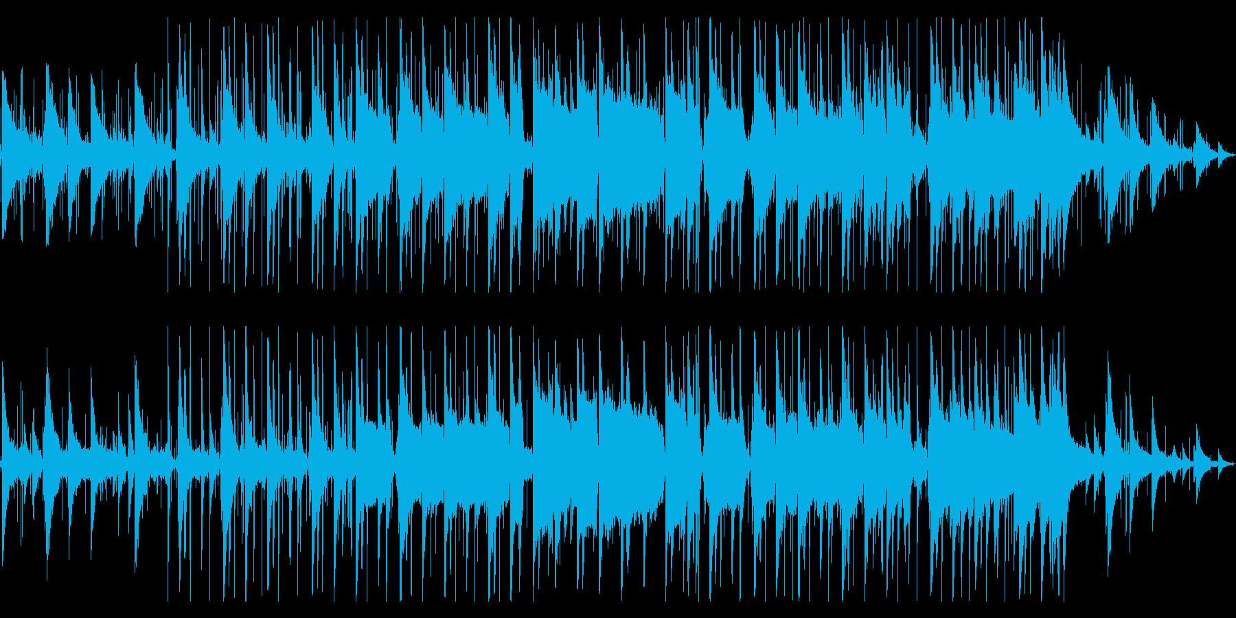 哀愁と懐かしさのあるlo-fiビートの再生済みの波形
