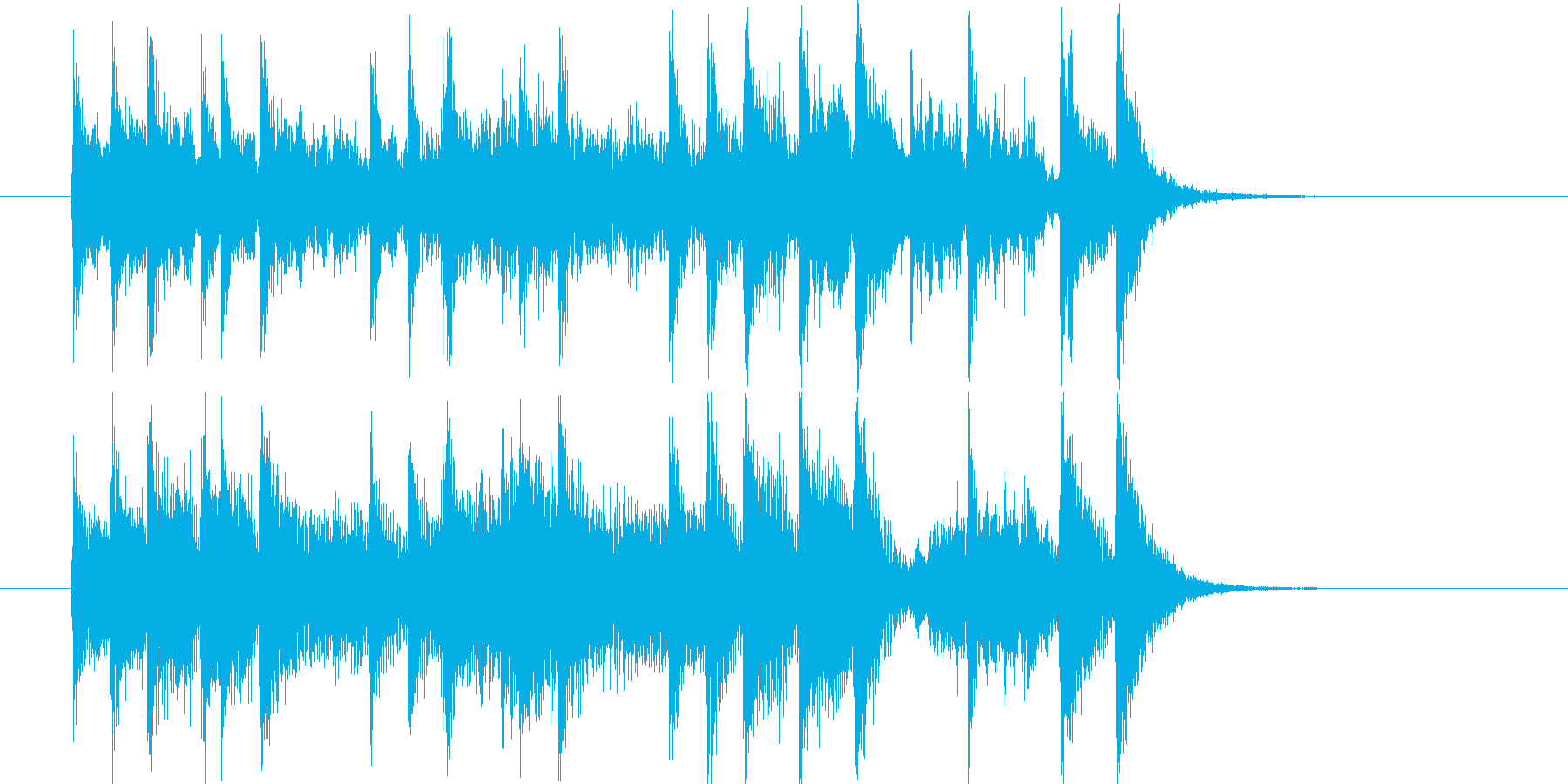 爽やかでメロディアスなアコギジングルの再生済みの波形