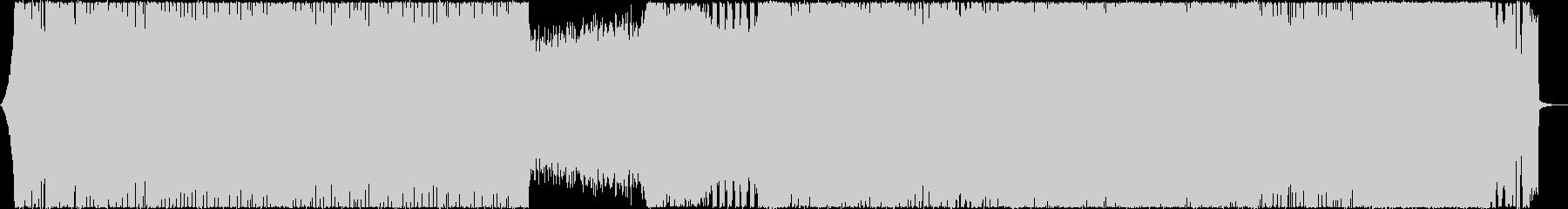 ハイテンポで激しいデスメタルの未再生の波形