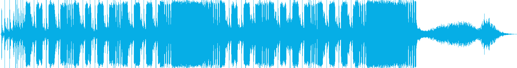 お洒落と激しさを兼ね備えたBGMの再生済みの波形