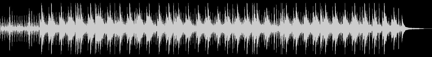 ピアノソロおしゃれジャズ和音の未再生の波形