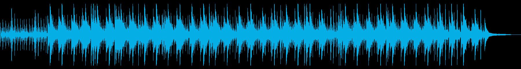 ピアノソロおしゃれジャズ和音の再生済みの波形